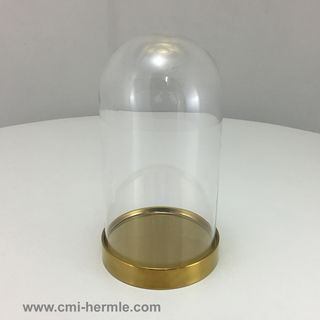 Glass Dome/Brass Base 110mm Dia x 200mm