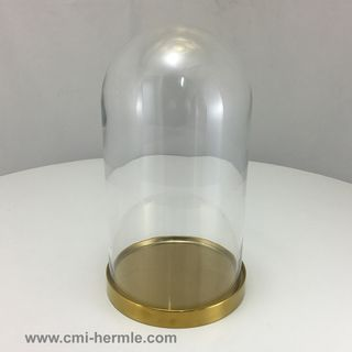 Glass Dome/Brass Base 150mm Dia x 270mm