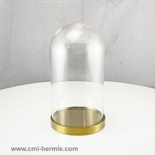 Glass Dome/Brass Base 150mm Dia x 270mm