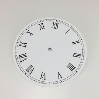 White Card Dial 150mm Roman