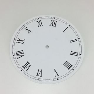 White Card Dial 160mm Roman