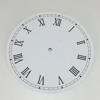 White Card Dial 180mm Roman