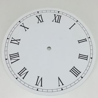 White Card Dial 210mm Roman