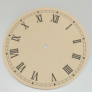 Cream Card Dial 210mm Roman