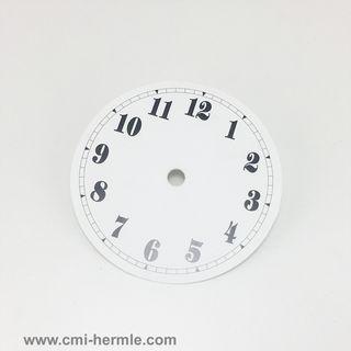 White Card Dial 105mm Arabic