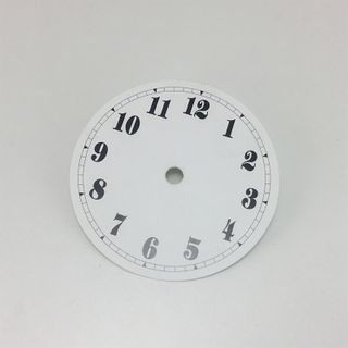 White Card Dial 105mm Arabic