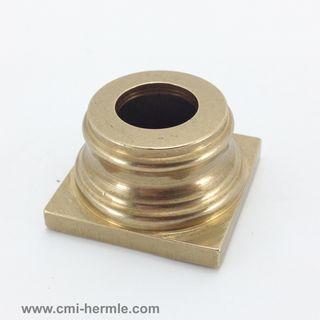 Polished Brass Column Base 30mm x 18mm