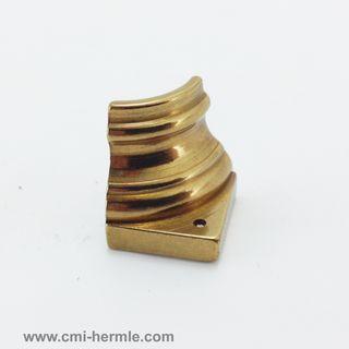 Polished Brass Quater Column 15mm x 15mm