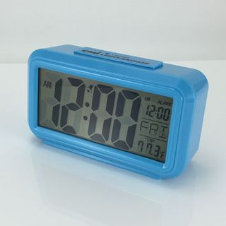 Quartz Alarm Blue - LCD  (Silent)