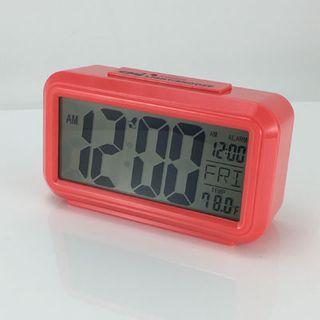 Quartz Alarm Red - LCD  (Silent)