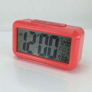 Quartz Alarm Red - LCD  (Silent)