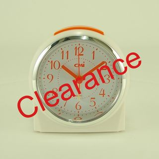Quartz Alarm White - Orange  (Silent)