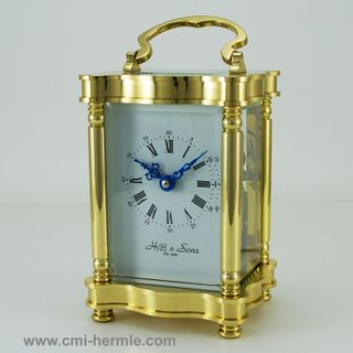 8 day Bell Strike Brass Table Clock