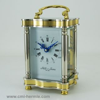 8 day Bell Strike 2 Tone Brass Clock