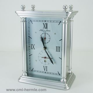 8 Day Table Clock-Silver-with Alarm