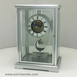 Excalibur - Table Clock in Alloy and Glass