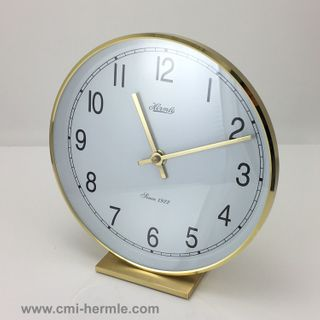 Fremont - Table Clock in Brass