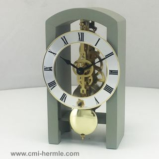 Patterson - Table Clock in Pastel Grey
