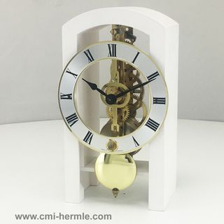 Patterson - Table Clock in Matt White