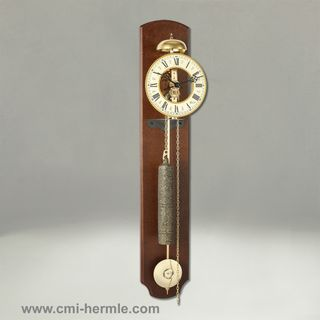 Walnut Skeleton Wall Clock