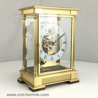 Castle -  Tourbillion Skeleton Clock in Brass