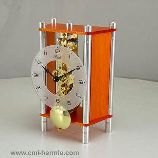 Keri - Table Clock Orange Skeleton
