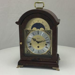 Bolton - Table Clock 4/4 Chime Walnut