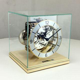 Clarke - Table Clock 4/4 Chime Chrome Maple