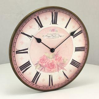 Fontana - Floral Wall Clock 29cm
