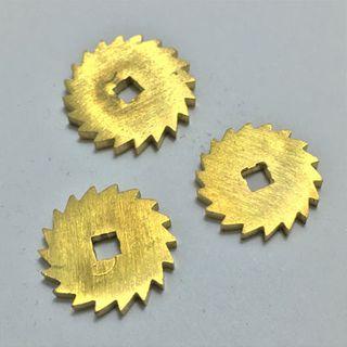 Brass Ratchet Wheels 15,16 & 17mm (1 each)