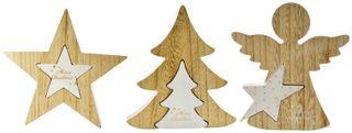 16x2x18cmpink/Wh/Nat 2pce Tree/Star/Che#