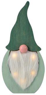 23x20x2cm Green Wood Santa Deco-Led#