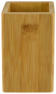 6x11cm Square Bamboo Bathroom Cup#