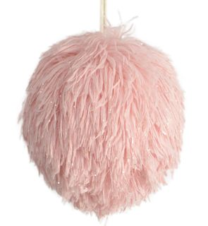 11cm Fluffy Foam Hanging Ball-Pink#