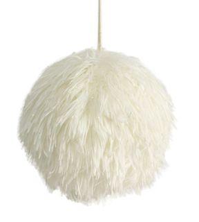 11cm Fluffy Foam Hanging Ball-White#