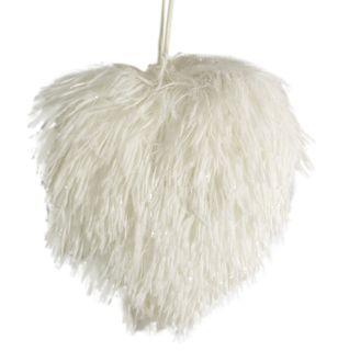16x16x4cm Fluffy Hanging Heart-White#