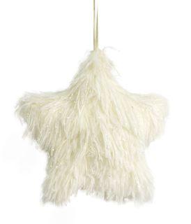 16x3cm Fluffy Foam Hanging Star-White#