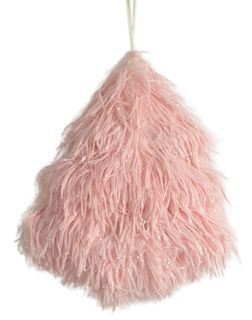 18x16x4cm Fluffy Foam Hanging Tree-Pink#