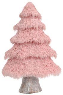 61x41x16cm Fluffy Foam Xmas Tree-Pink#