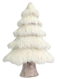 61x41x16cm Fluffy Foam Xmas Tree-White#