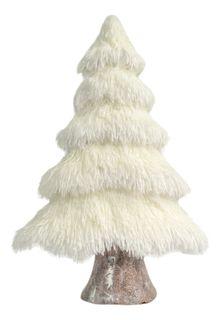 51x32x13cm Fluffy Foam Xmas Tree-White#