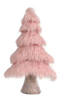 41x24x11cm Fluffy Foam Xmas Tree-Pink#
