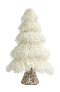 41x24x11cm Fluffy Foam Xmas Tree-White#