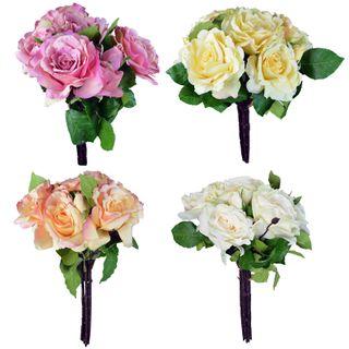 10 Head 45cm Open Head Rose Bouquet-4as#
