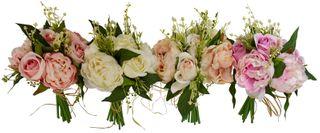 28cm 11 Head Rose/Peony Bunch- 4asst#