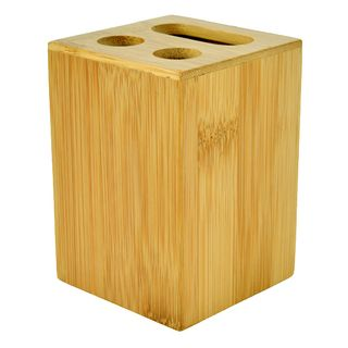 7x10cm Square Bamboo Toothbrush Holder#