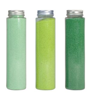 700Gr 1-2Mm Acrylic Sand Tube Greens 3a#