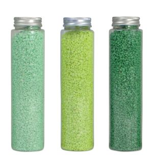 700Gr 2-5Mm Colour Rocks In TubeGreen 3#