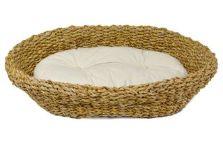 53x40x13cm Seagrass Pet Bed W/Cushion