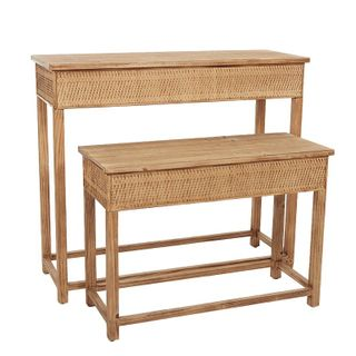 Ubud S/2 Console 105x38x92cm- Natural